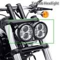 "1 set 4.5"" Harley Led Headlight Daymaker LED Headlamps Fat Bob Headlight for Fat Bob Harley Motorcycle Headlight"