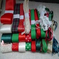 Free Shipping 29meters 22style Christmas Bowknot Hairpin Headdress DIY Manual Materials Grosgrain Ribbon Whorl Ribbon Set