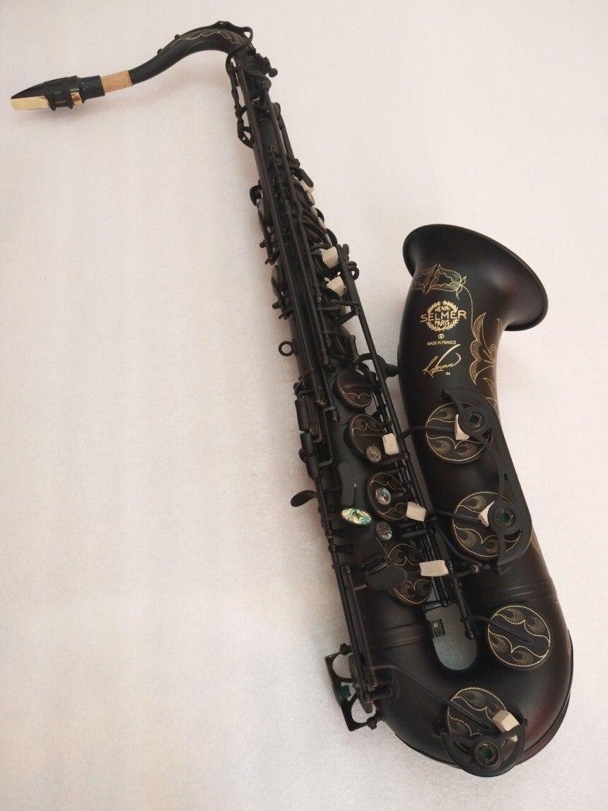 Selmer 54R Ténor Saxophone B plat Musique instrument Haute Qualité Ténor à jouer professionnellement Noir Nickel Or Saxophone