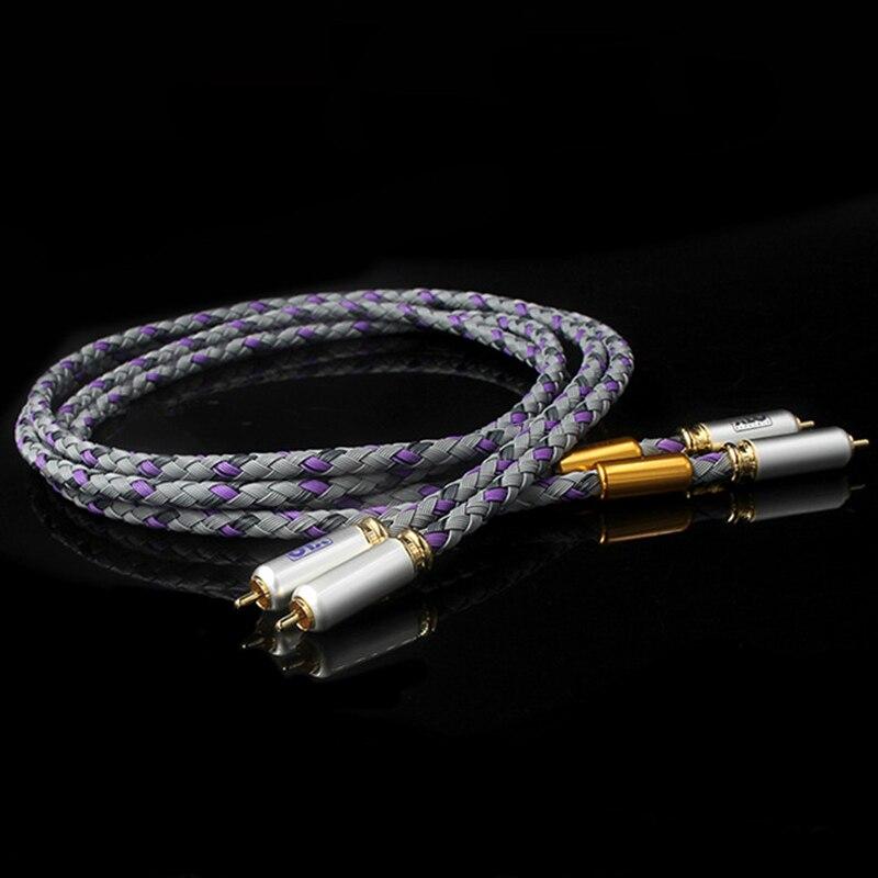 Par XLO Assinatura S3-1 Escolhido-Ended Cabo de Alta Fidelidade RCA CD Oi-end Amplifier Interconnect 2RCA para 2RCA Masculino cabo de áudio