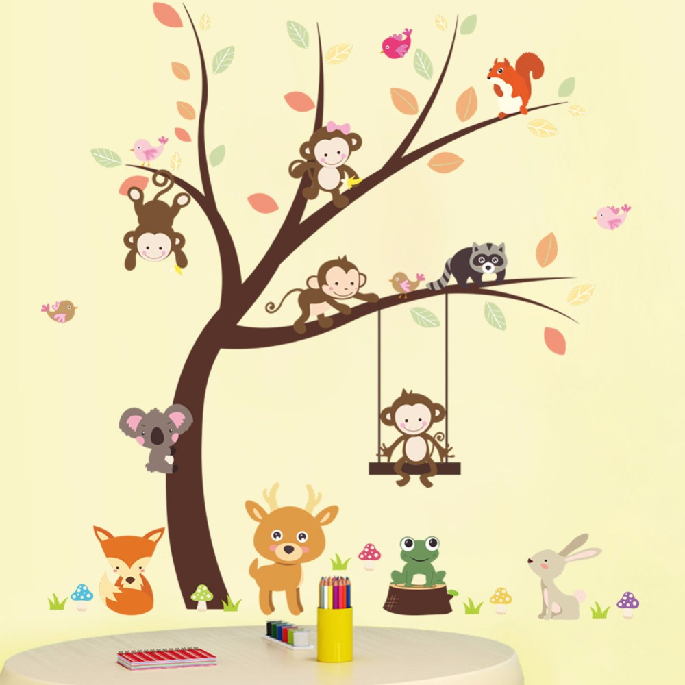 Zs Sticker Girls Bedroom Wall Stickers for Kids Rooms Daycare Wall ...