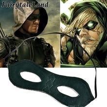 Зеленый сезон стрельбы Оливер королева глаза маска косплей аксессуары супергерой вечерние косплей супергерой Зеленая Стрела маска для глаз