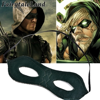 Green Arrow sezon Oliver Queen maska z oczami akcesoria Cosplay impreza superbohatera cosplay superhero Green Arrow maska na oczy tanie i dobre opinie CN (pochodzenie) Maski Unisex Dla dorosłych Superhero Sci-Fi Costumes Skóra syntetyczna Free size PU Leather 1-3days