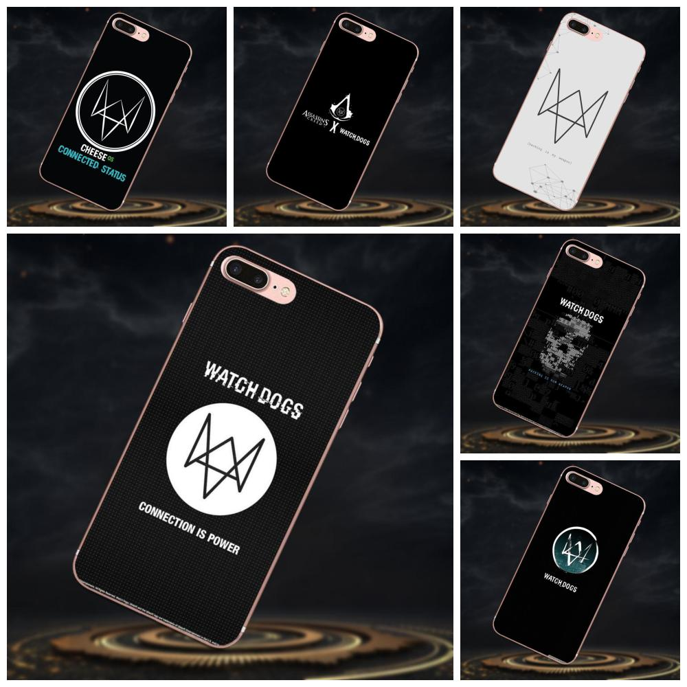 TPU Stylish Case For Galaxy J1 J2 J3 J330 J4 J5 J6 J7 J730 J8 2015 2016 2017 2018 mini Pro Game Watch Dogs Symbol image