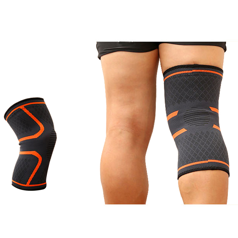 New 1Pair Knee Compression Sleeve Support for Running Jogging Sports Joint Pain Relief Arthritis and Injury Recovery Wrap Orange what is good for knee pain compression massager for arthritis joint pain relief far infrared red light laser physical device