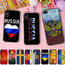 Russian USSR Brazil USA UK Spain Israel Turkey Flag Soft Silicone Phone Case for iPhone X 5 S 5S 6 6S 7 8 Plus Cover(China)