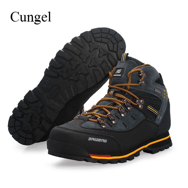 Cungel Sneakers men Autumn/Winter Outdoor Hiking shoes Breathable Waterproof Male Trekking boots Mountain Climbing shoes kerzer outdoor shoes men autumn winter hiking boots slip on trekking shoes leather mountain climbing sneakers