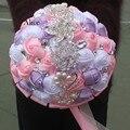 Экспорт Свадебные Букет Невесты Высокая Архивы Лента Европейский Ручной Моделирования Розы Руки Букет Невесты 18 Сантиметр WB009