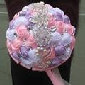 Export Wedding Bridal Bouquet Bride High Archives Ribbon European Manual Simulation Rose Hand Bridal Bouquet 18 Centimeter WB009