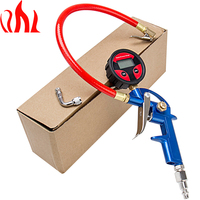 PRECISION AUTO LABS Portable Tire Inflator LCD Large 1 6 Inch Digital Tire Pressure Gauge With