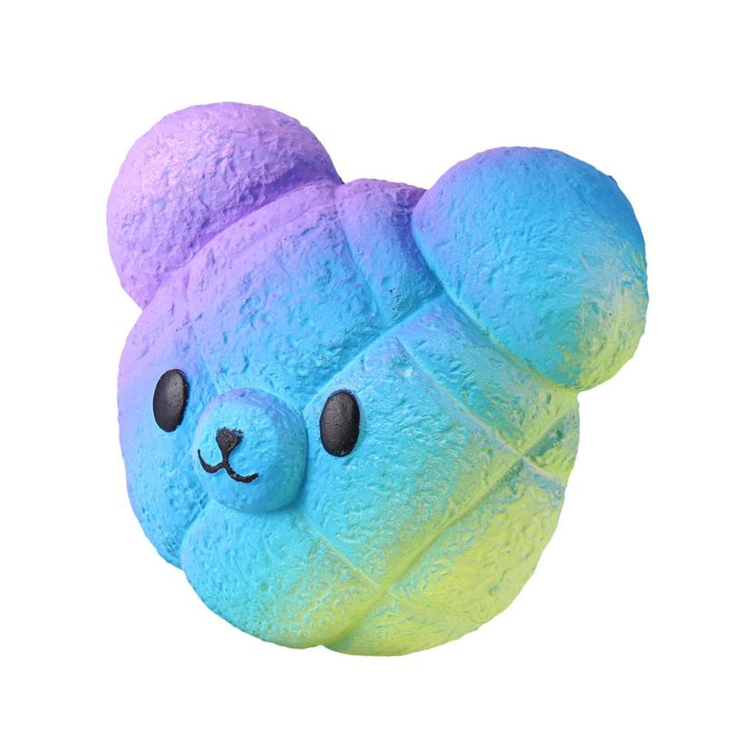 Original Kawaii Kawaii Cartoon Galaxy Bear Squishy Slow Rising Cream Scented Stress Reliever Toy   Collection Cure Gifts 7.4 #5
