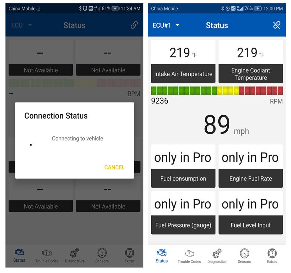 24)Vgate iCar Pro ELM327 BluetoothWIFI v1.5 OBD2 OBDII EOBD Car Diagnostic Tool Elm 327 iCar Pro Scanner For AndroidIOS