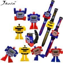 [Jkela] Relógio de Brinquedo Robô Transformação Ko Versão Gt Adesivo Educação Toy figuras de ação de Plástico Deformação Assistir Meninos Presentes