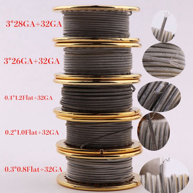 Aggressive 10/15feet Xfkm Alien V2 Coil Wire A1 Ni80 Ss316 Heating Wire High Density Rda Rba Rdta Rebuildable Atomizer Heating Diy Coil Electronic Cigarettes