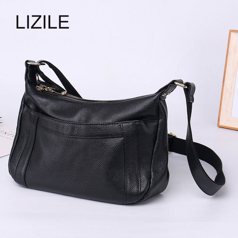 Genuine Vintage Women Messenger Shoulder Bag Crossbody Bags Casual Solid Zipper 2017 Fashion Women Ladies Messenger