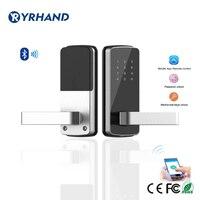Бескнопочный электронный дверь Пароль блокировки Bluetooth цифровой умный дверной замок с телеметрический замок App дистанционного Управление ...