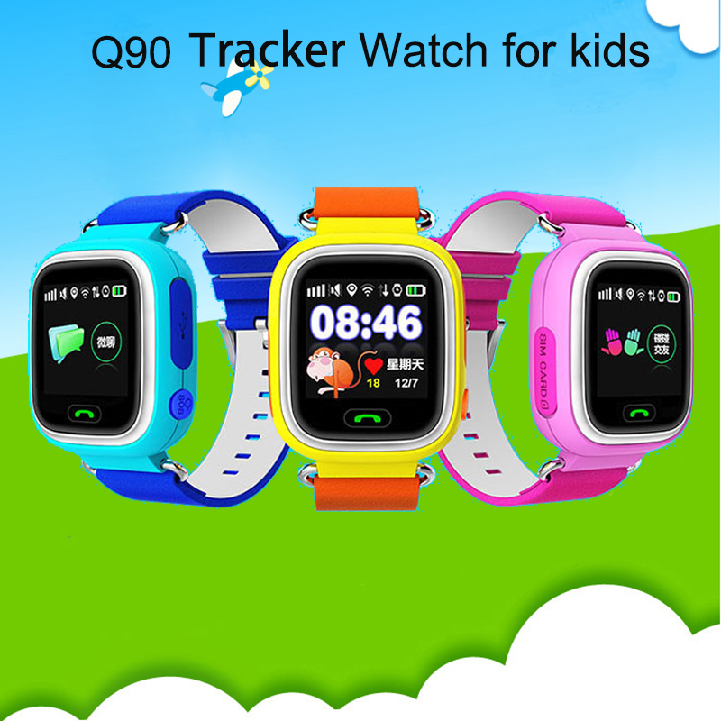 GPS Q90 Touch Screen WIFI Positioning font b Smart b font Watch Children SOS Call Location