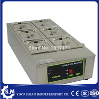 Electric digital chocolate melter chocolate tempering machine with 6 melting pots stainless steel 6 lattice chocolate maker