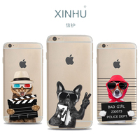Wholesale For Apple Iphone 7 Case Slim Sunglasses Dog TPU Phone Case For IPhone 6 Case