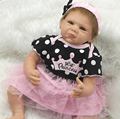 22 Дюймов Силиконовые Возрождается Девочка Куклы Реалистичные Lifesize Реалистичные Куклы Младенца Силиконовые Куклы Рождественский Подарок