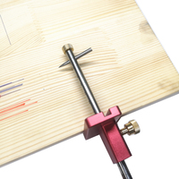 Aluminum Alloy Woodworking Scribe Marking Gauge Scribers Adjustable Wire Drawing Machine Woodworking Marking Tool Marking Device