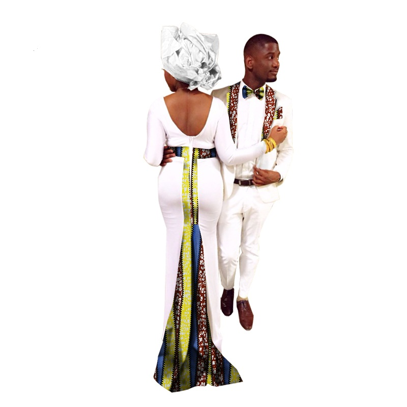 2018 Rushed African Dresses For Women In African Clothing Africa Bazin Riche 2017new Fashion African Couples Suits(women+men)