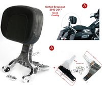 Adjustable Driver & Passenger Backrest For Harley Turing Street Glide road king road glide14 17 softail breakout fat boy07 17