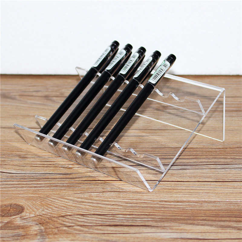 15 Slot Plastic Pen Jewelry Display Holder Stand Rack High Quality Clear Pen Holder Desk organizer