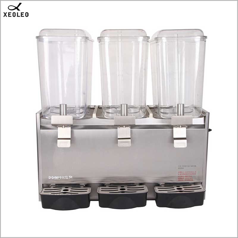 XEOLEO Three Jars Cold Drink Machine 18L*3 Fruit Juice Dispenser Fountain Type Beverage Machine 200V Mixing Juice Dispenser
