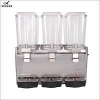 XEOLEO Three Jars Cold drink machine 18L*3 fruit juice dispenser Fountain type Beverage machine 200V Mixing Juice Dispenser