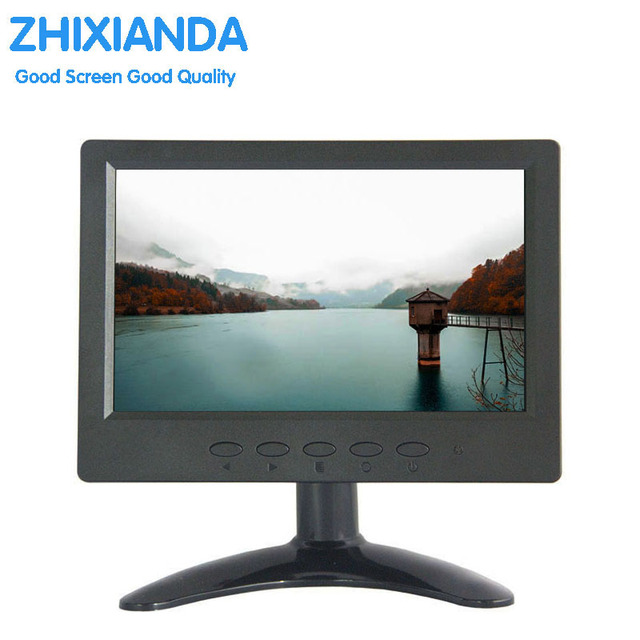 Resistive touch screen monitor 7 inch rear seat touch screen monitor for car 7 inch small vga lcd touch monitor