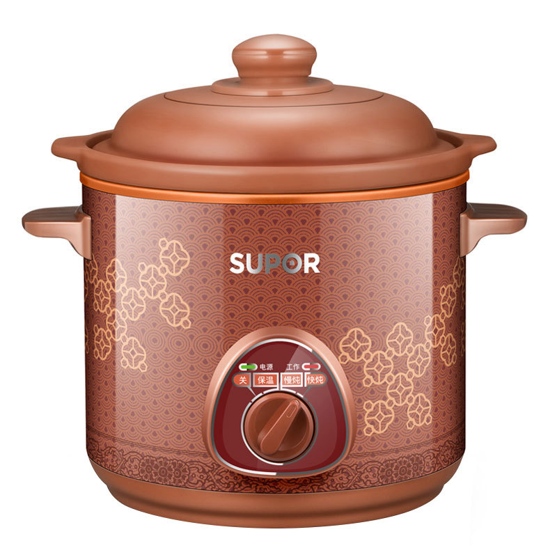 Electric stew pot terra-cotta slow cookers porridge soup health ceramics by mechanical control free shipping free shipping split hot pot household multipurpose 4l multi cookers