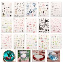 Epoxy Resin Filler DIY Jewelry Making Crafts Handmade Materials Stuffing Colorful Floral Animal UV Glue Transparent Filling Tool