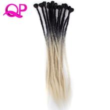 Qp волосы 24 дюйма 5 корни мягкие дреды крючком Твист волос Синтетический крючком плетения волос 3 шт. kannekalon волос