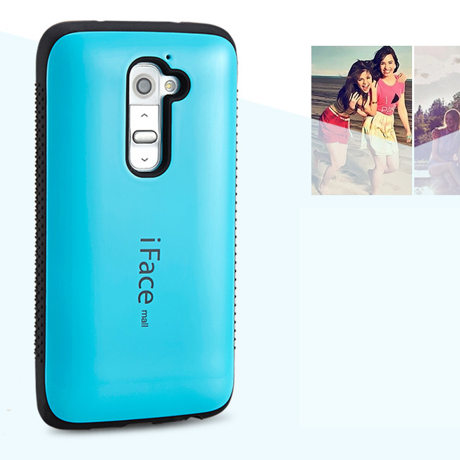 For case LG G2 Dropproof case TPU Shockproof case Cover For LG G2 D801 D802 candy color anti-knock shell