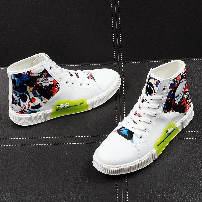 Bottines En Espadrilles Hommes Hip De Mode Panda Loisirs Peluche Chaussures Blanc Printemps Hop Nouvelle Décontractées 2019 Haute Top Jeunes Graffiti Mâle Automne YbyvIf76g
