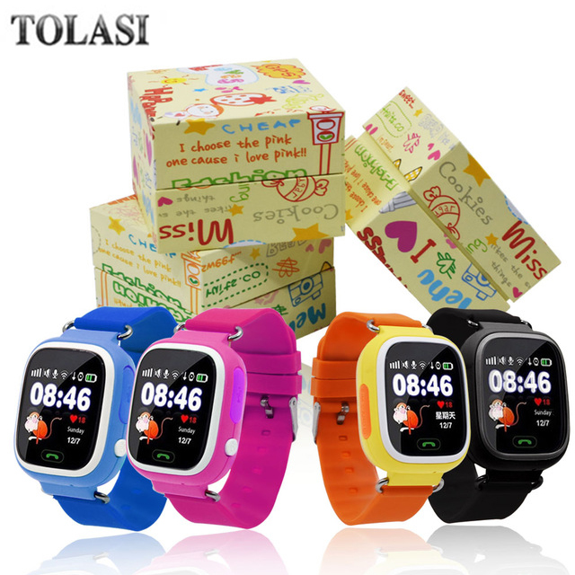 High quality GPS Smart watch Touch Screen WIFI Positioning Children Smart Wrist Watch Locator PK Q50 Q60 for Kid Safe Anti-Lost