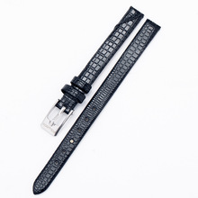 A060 8mm Black Brown Red Watchbands Pin Buckle Bracelet Leather Watch Band for Women Size White Watch Strap Watch Clock Men