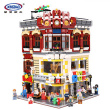 XingBao 01006 Genuine Creative MOC City Series 5491Pcs The Toys and Bookstore Set Building Blocks Bricks Toy DIY Model Gifts
