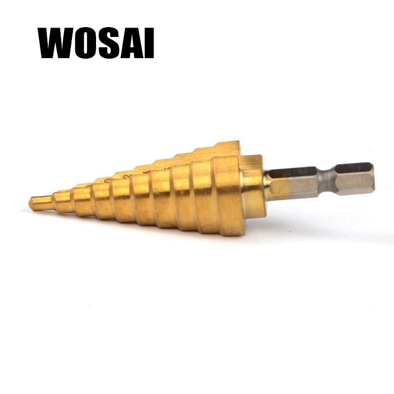 WOSA Hss titán lépcsős fúrószárú kúpvágó szerszámok acél - Fúrófej - Fénykép 2