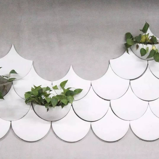 Cement Wall Brick Silicone Mold Wall Hanging Pot Decoration