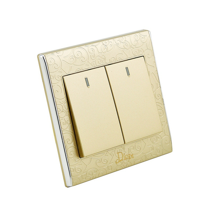 2 Gang switch 1 Way house using flame retardant factory direct price  waterproof touch light switch