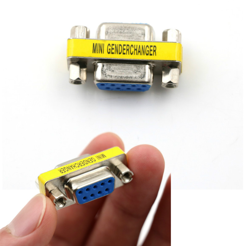 RS232 9 Pin Female / Female Gender Changer Adapter DB9 Serial M-F Extender Connector Converter CouplerRS232 9 Pin Female / Female Gender Changer Adapter DB9 Serial M-F Extender Connector Converter Coupler