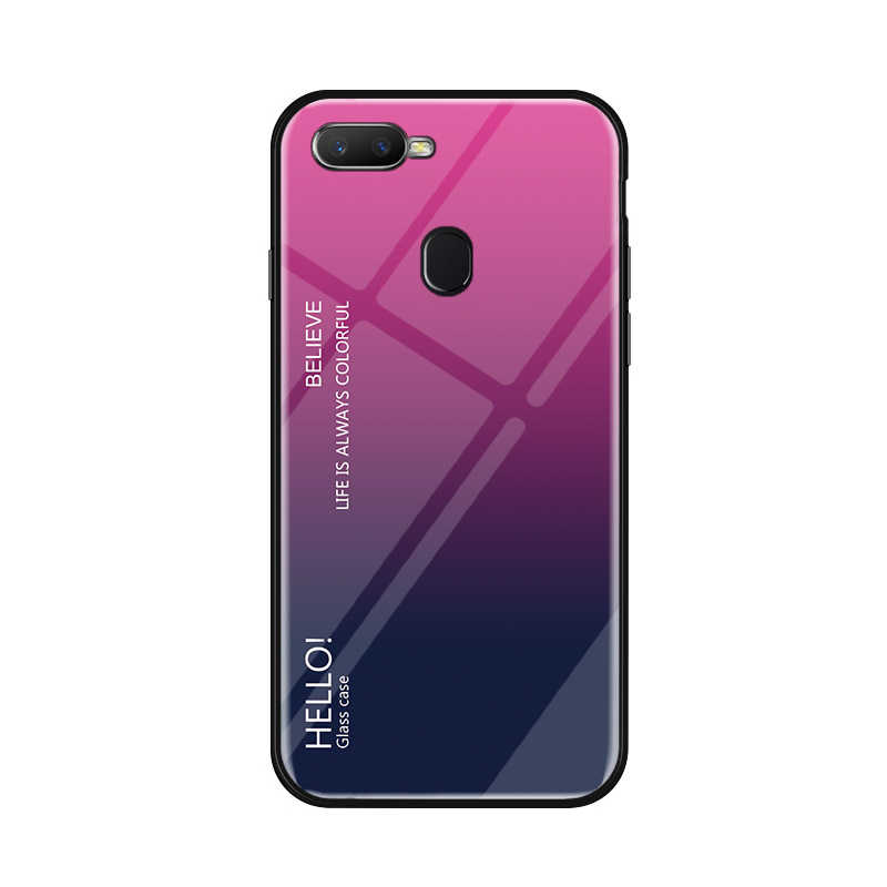 huge selection of a5036 75ffe Case For OPPO Realme U1 Case Luxury Shockproof Hard Gradient Tempered Glass  Hard Cover for OPPO Realme 2 Pro Case Shell fundas