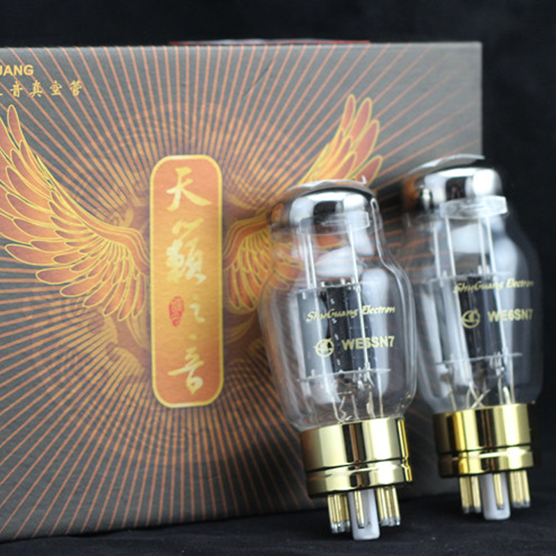 free shipping 2pcs shuguang we6sn7 6sn7gt 6sn7 t cv181 z cv181 t  6n8p  matched pair amplifier