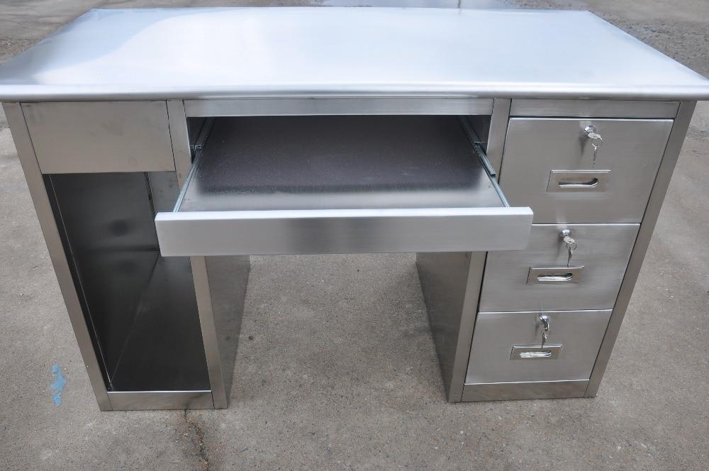 Stainless Steel Computer Desk Swt 58 1200 600 750 In Computer Desks