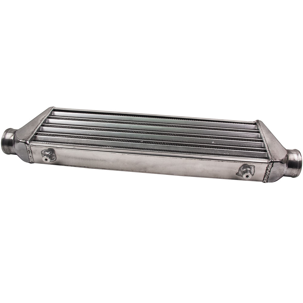 Universal Front Aluminum Mount Intercooler 27x7x2 5 inch 2 5 Inlet Outlet