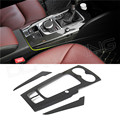 Carbon Trim 3 pcs / Set For Audi A3 2014 2015 2016 Carbon Fiber Interior Cover Trim Only LHD Gloss Finish