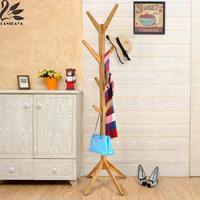 Lanskaya Quality Coat Rack Modern Simple Bamboo Clothes Hanger Coatrack Furniture Rack Tree Coat Hook