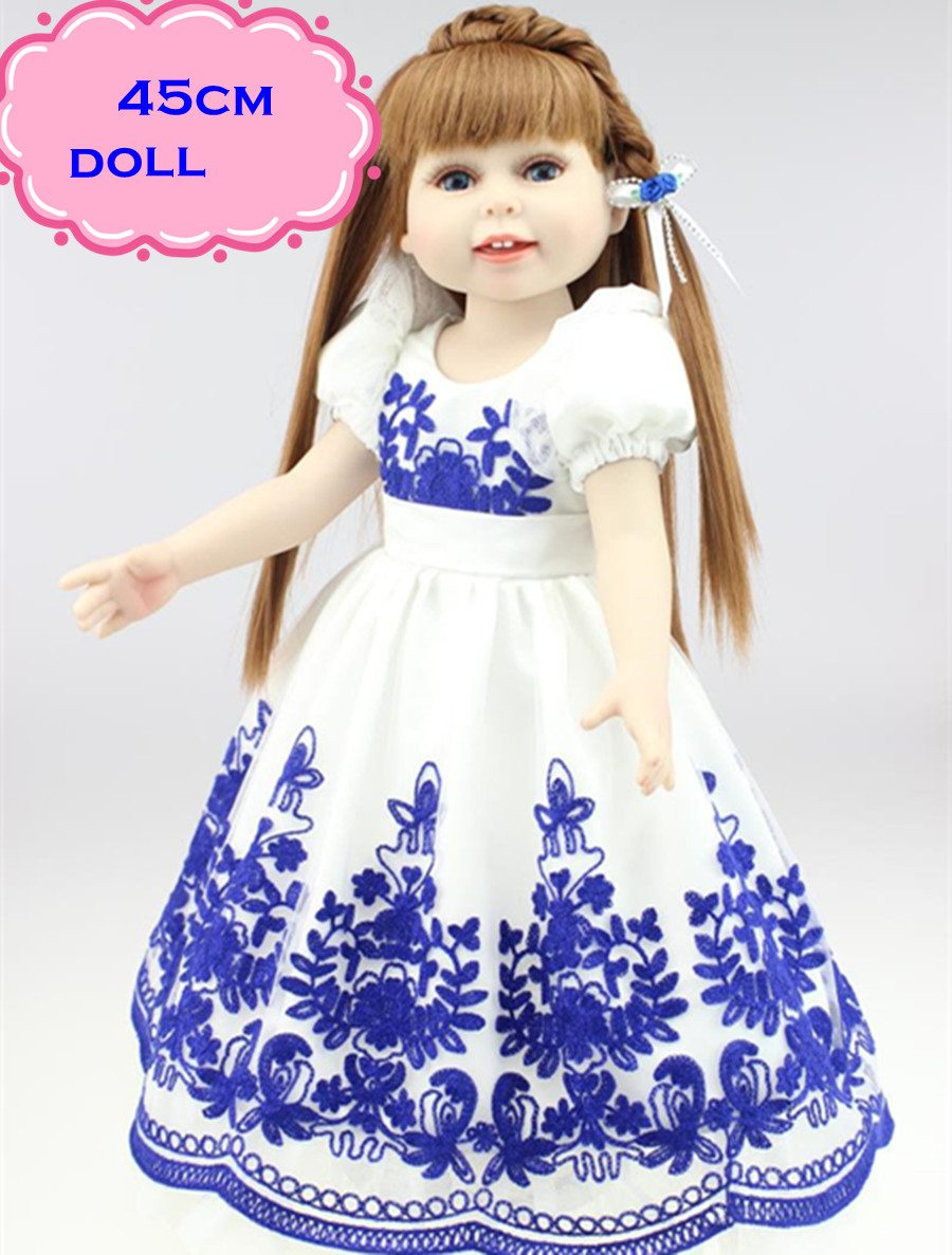 18inch Princess American Girl Doll Brinquedos For Child's Best Gifts Hot Sale Npk Reborn Dolls With Alexander Baby Dolls Clothes  18 inch lovely american girl princess doll baby toy doll with fashion designed dress journey girl doll alexander doll